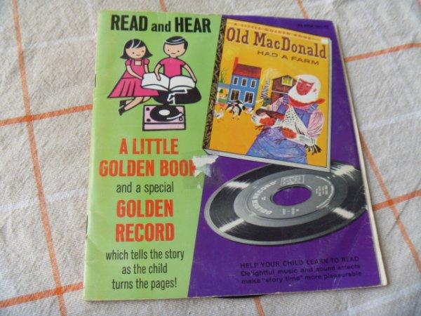 画像1: リトルゴールデンブックandレコード・OldMacDonald1960年 (1)