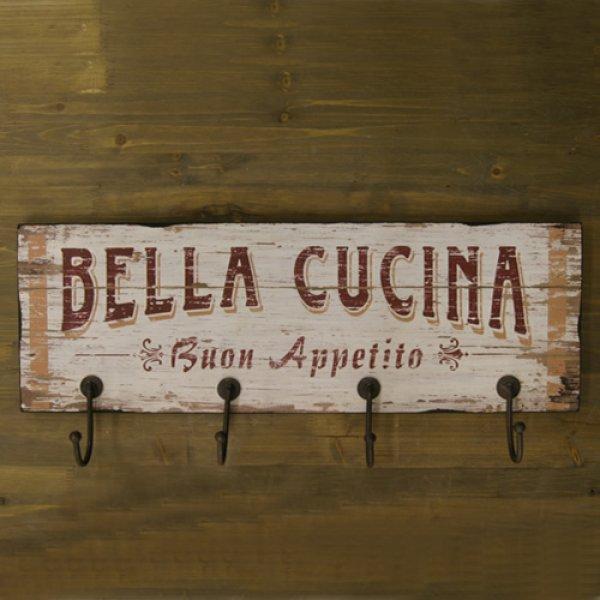 画像1: アンティーク仕上げプレート・フック付き・BELLA CUCINA (1)